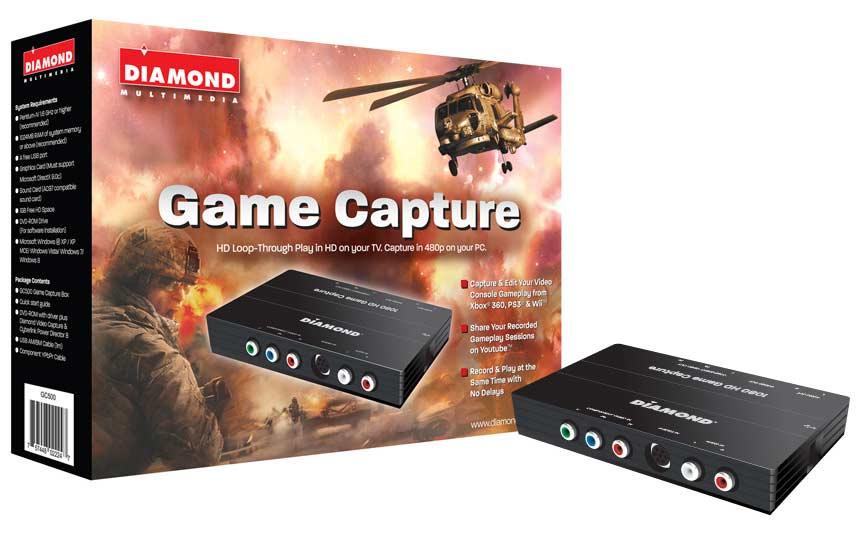 DIAMOND USB 2 0 GC500 HD Component Pass Through Game Console Video Capture  Device