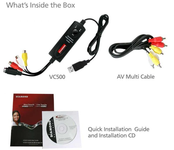 VC500 package contents