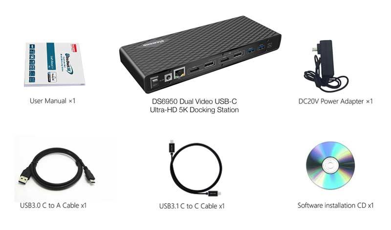 Diamond Multimedia Ultra Dock 5K/4K USB Type-C, Type-A Docking Station  compatible with Thunderbolt 3 Laptops/Desktop PC's (DS6950)