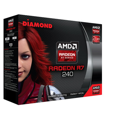 Diamond AMD R7 240 PCIE DDR3 2GB Memory Graphics Video Card (R7240D32G)