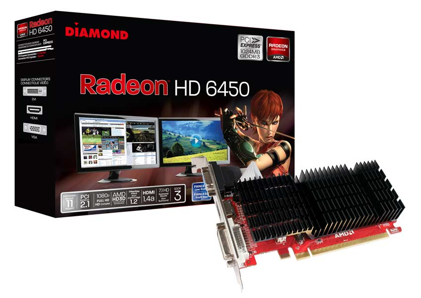Diamond 6450 Pcie 1gb Gddr3 Video Graphics Card