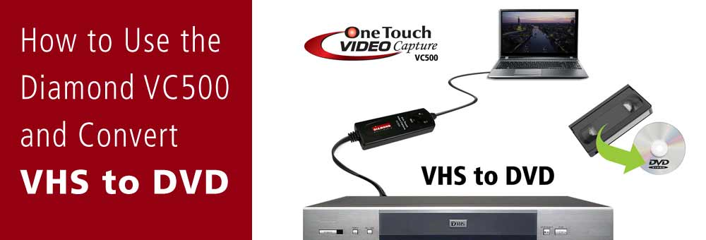 VC500 How to convert VHS to DVD banner