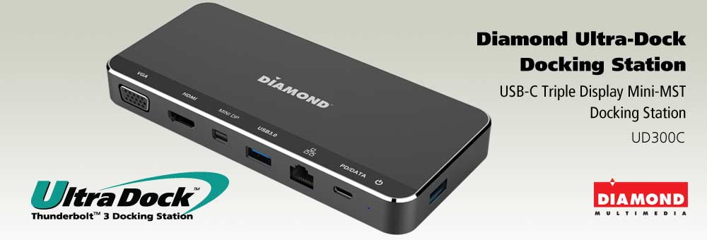 The All-New Diamond USB-C Triple Display Mini-MST Docking Station