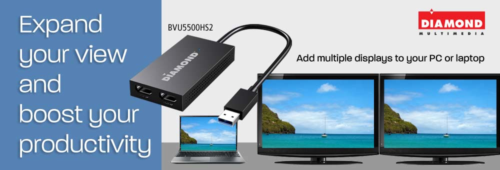 Expand Your View and Boost Your Productivity with the new Diamond Dual HDMI Graphics Adapter